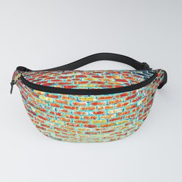 Brick Abstract Fanny Pack