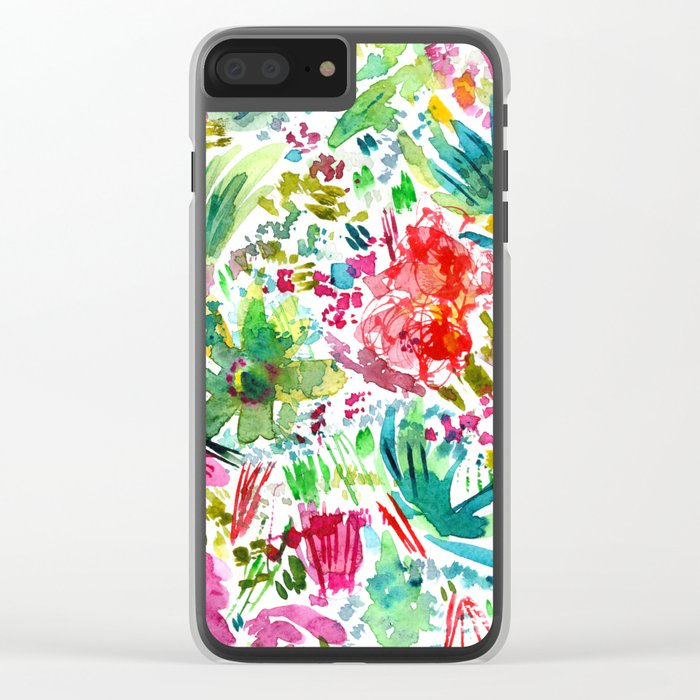 Spring vibes || watercolor Clear iPhone Case