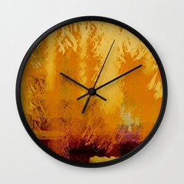 Fall Jungle Sunset Wall Clock