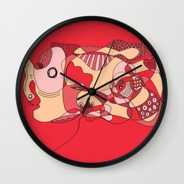 Stressed Out Wall Clock