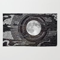 moon Area & Throw Rugs featuring Moon Glow by brenda erickson