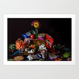 Still Life with Junk Food Art Print