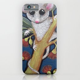 Pygmy Possum and Red Gum Blossoms iPhone Case
