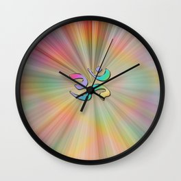 Rainbow Sunburst OM Wall Clock