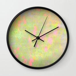 pastel girl pattern Wall Clock