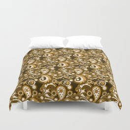Golden Haze Paisley Duvet Cover
