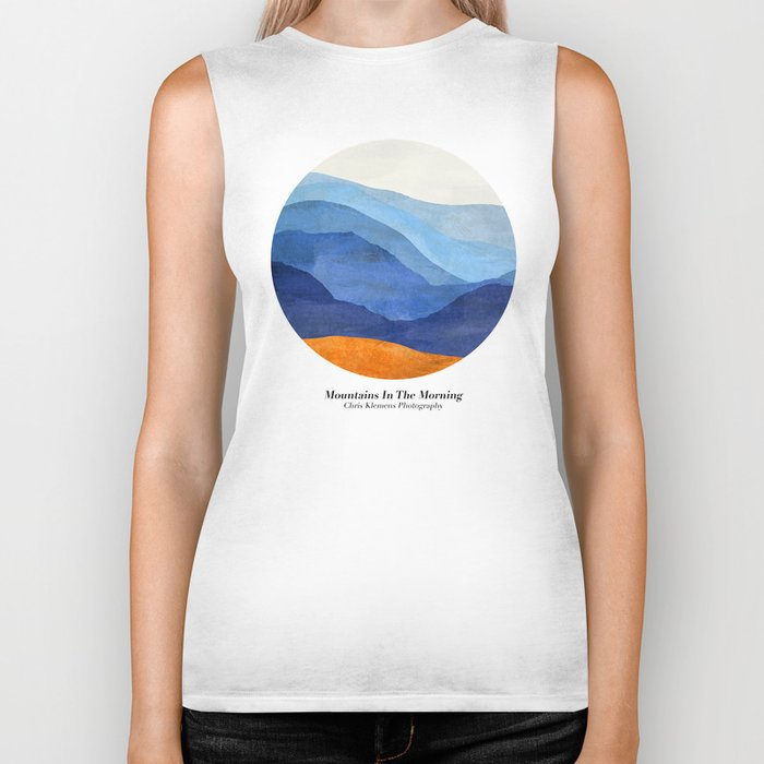 Mountains in the Morning Biker Tank