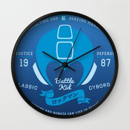 Video Game Gamer Geek Mega Man Inspired Classic Cyborg Battle Kid Wall Clock