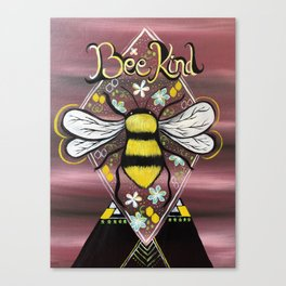 Bee Kind to All Kinds Canvas Print