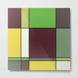 Minimalist Abstract Squares 6 Metal Print