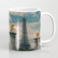 eiffel Mugs featuring Eiffel by Esteban Calderón