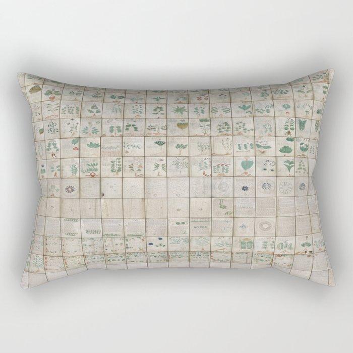 The Complete Voynich Manuscript - Natural Rectangular Pillow