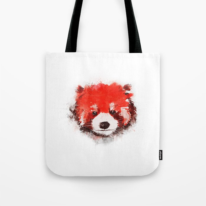 Red Panda (White) Tote Bag