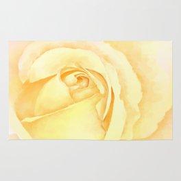 Blushing Yellow Rose Rug