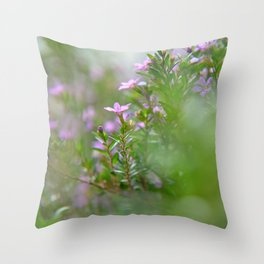 itty-bitty purple Throw Pillow