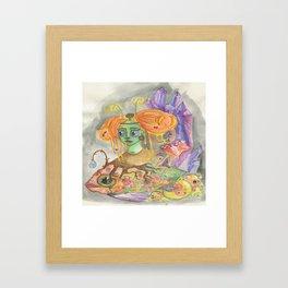 Glow fish Cave of life Framed Art Print