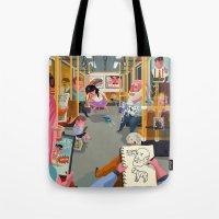 budapest Tote Bags featuring Budapest underground by Zsolt Vidak