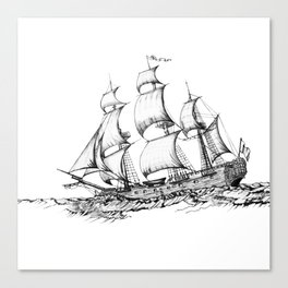 sailing ship . Home decor Graphicdesign Canvas Print