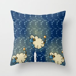 Counting Flaafy Throw Pillow