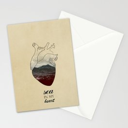 SEA IN MY HEART Stationery Cards