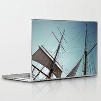 pirate ship Laptop & iPad Skins featuring Pirate Ship by Amanda Novocin Bee