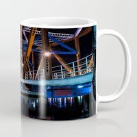 detroit Mugs featuring Detroit Bridge by Fotomus-Digital