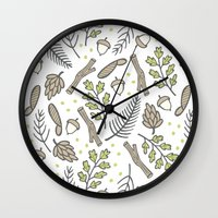forrest Wall Clocks featuring Forrest by Hennel Paper Co.
