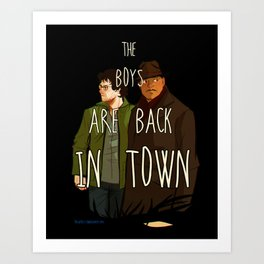 """NBC Hannibal - Jack and Will - """"The boys are back in town"""" Art Print"""