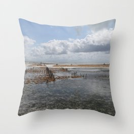 Sea Weed Farm Throw Pillow