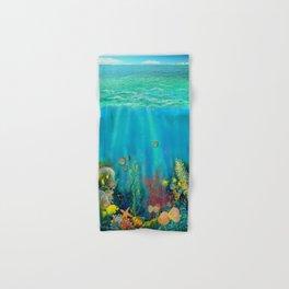 Undersea Art With Coral Hand & Bath Towel