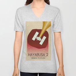 Hayabusa 2 Space Art. Unisex V-Neck