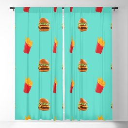 Burgers with fries Blackout Curtain