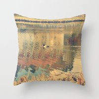 lonely Throw Pillows featuring Lonely by Rose Etiennette
