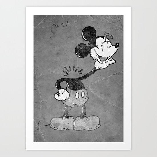headless mouse Art Print