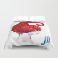 scorpio Duvet Covers featuring Scorpio by Aloke Design