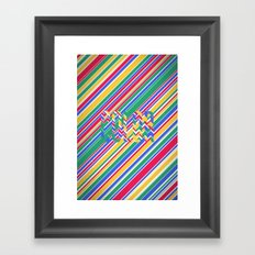 Color Stripes Framed Art Print