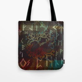Tree of life  -Yggdrasil - and runes Tote Bag