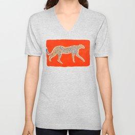 Leopard - Orange Unisex V-Neck
