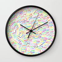 500 days of summer Wall Clocks featuring (500) DAYS OF SUMMER by David