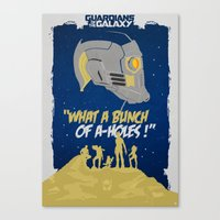 guardians of the galaxy Canvas Prints featuring Guardians of The Galaxy by Romain Therasse
