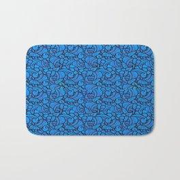 Blue Paisley Pattern #2 Bath Mat