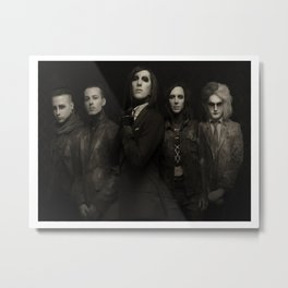 MOTION-LESS IN WHITE American BAND GIFT - WALL DECOR ART PRINT POSTER Metal Print