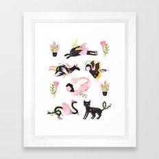 Distant cousins Framed Art Print