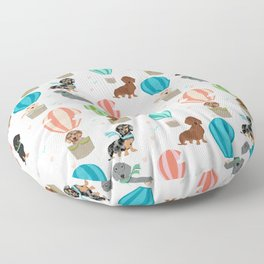 Dachshund hot air balloon dog cute design fabric doxie pillow decor phone case Floor Pillow