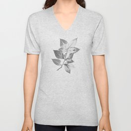 Elegant Leaves Unisex V-Neck