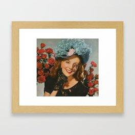 The Flower Lady Framed Art Print