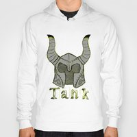 skyrim Hoodies featuring Tank by Mallow