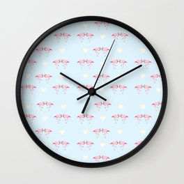 "Collection ""Love Birds"" impression ""Loving Flamingo"" Wall Clock"