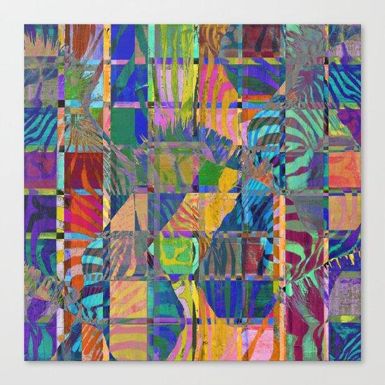 Colorful Zebras Canvas Print