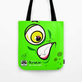 Greenie Meanie Face - Monstar Tote Bag